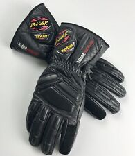 Dririder Womens Leather Motorcycle Gloves Protection Inserts Size M