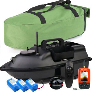 500M RC Wireless Fishing Bait Boat,Fishfinder with Sonar Sensor,Battery,Handbag