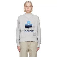 2021 Small Stand Collar Long Sleeve Grey Sweatshirt Isabel