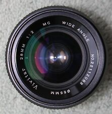 Vivitar 28mm Wide Angle Lens Canon FD FIT