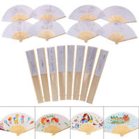 1Pc Kids DIY drawing toys craft blank paper hand fan children painting toys J MD
