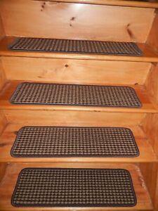 "13 STEP 9"" x 30"" + 30"" x 30"" Stair Treads Non Slip Staircase RUBBER"