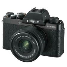 Fujifilm X-T100 24MP Digital Mirrorless Camera Black+XC15-45mm Lens FREE SD CARD