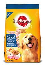 Pedigree Adult Dry Dog Food Chicken and Vegetable Flavor Good Health Food 400g