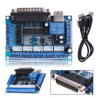 5 Axis USB CNC Card Controller Interface Board USBCNC Replaceable for Mach3 CNC