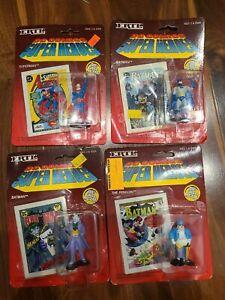 ERTL DC COMICS SUPER HEROES LOT Of 4 DIE CAST METAL FIGURES Batman Superman Vill