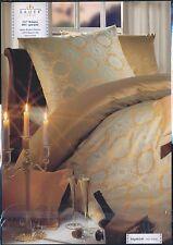 Curt Bauer Bologna 2317 Mako-Brokat-Damast Bettwäsche, 155x220+80x80, opal-gold
