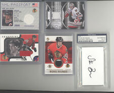 Chicago Blackhawks auto jersey serial # acetate 10 card lot Amonte Duncan Keith