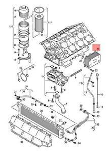 Genuine AUDI Q7 4LB Oil Cooler 05A117021A