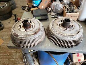 Pair Original Aluminum Front Brake Drums 1968 1970 Buick Electra Wildcat Riviera