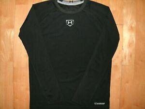 UNDER ARMOUR Youth Boys BASEBALL Large HEAT GEAR Long Sleeve Base Layer Shirt