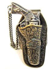 older vintage COWBOY HOLSTER w/removable GUN adjustable RING premium
