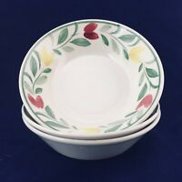 TABLEMATES Paint Brush NIKKO Early Spring Floral Soup Cereal Bowls Set 3