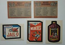 1973 Wacky Packages 1st Series Stickers Lot of 3 + 2 Checklists FREE S/H