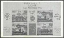 Burkina Faso 1985 Philexafrique 3 miniature sheet UNISSUED? photographic proof