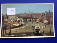 Postcard Mersey Square Stockport 1950's