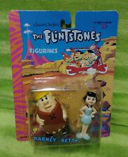 Vintage 1992 Boley Hanna Barbera The Flintstones Windup Barney & Betty Figures