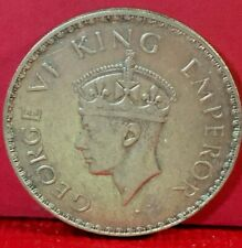 1940 BRITISH INDIA ONE RUPEE KING GEORGE VI SILVER COIN