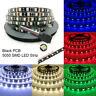 Black PCB 16.4ft 5M 5050 RGB SMD 300 Waterproof LED Flexible Strip Lights Lamp