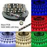 Black PCB 16.4ft 5M 5050 RGB SMD 300 Waterproof LED Flexible Strip Lights Lamp