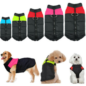 Cotton Winter Dog Coat Waterproof Dog Clothes Vest for French Bulldog Rottweiler