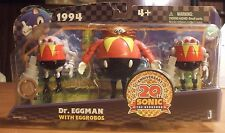 Sonic 20th Anniversary Action Figure 1994 Dr. Eggman Robotnik with EggRobos Toy