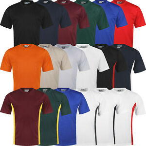 New Mens Breathable T Shirt Cool Dry Running Sports Performance Wicking Gym Top