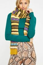 Urban Outfitters UO Geo Motif Pattern Scarf Yellow Green Pink