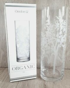 """Orrefors, New Organic Clear Crystal Vase 11.8"""" Tall. Sweden Artistic Simplicity"""