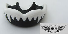 Formable Mouth Gum Shield 'SHARK' BLACK Boxing Football - Senior