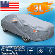 Full Car Cover Waterproof Snow Rain Heat UV Dust Scratch Resistant US