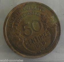 50 centimes morlon 1939 B : TB : pièce de monnaie française