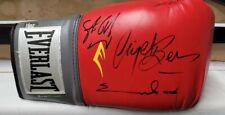 More details for signed nigel benn, chris eubank and steve collins boxing glove exact proof