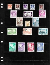 BURMA : NICE  'VINTAGE' STAMP COLLECTION   DISPLAYED ON 1 SHEET.  SEE SCANS