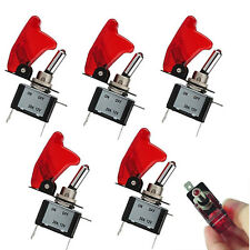 5x Red LED Toggle Switch Racing SPST ON/OFF 20A for Car Truck Boat ATV 12V Sale