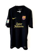 Barcelona Away Shirt 2011. Small Adults. Nike Black Short Sleeves Football Top S