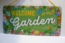 Garden Steel Embossed Sign Metal Sign 20cm X 10cm Welcome To My Garden