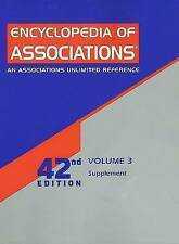 3: Encyclopedia Of Associations Supplement: An Associations Unlimited Reference