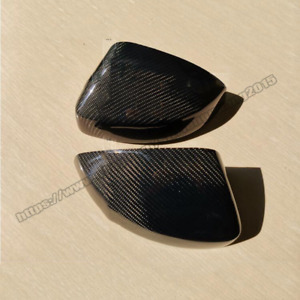 For Audi A3 S3 2014-2018 Real Carbon Fiber Wing Side View Mirror Cover Caps Trim