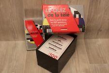 Coffret cartes + livret Le Quiz de la télé -Tout le petit écran en 500 questions