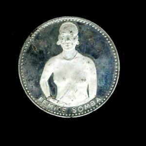 1971 Dahomey S 1000Francs Somba Woman 10th Anniversary 51g Silver Proof 99c NR
