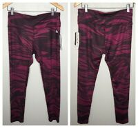 RBX Active Fuchsia Marble Swirl Performance Stretch Leggings Women's Size Large