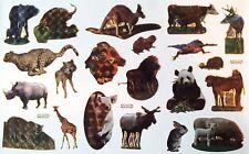 <Stickerbogen, Glanzsticker mit Goldrand, Wildtiere A5-Bogen