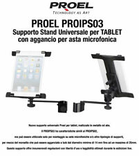 Proel PROIPS03 Supporto Stand Universale per TABLET aggancio asta microfonica