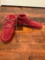 Patagonia Red Suede Chukka Lace-Up Shoes, Size 7.5 (US) 37.5 (EU)