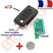 clé éléctronique coque 3 boutons Citroen Picasso C1,C2, C3, C4, C5, C6, C8