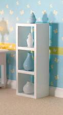 Unità di archiviazione versatile bianco, doll House Miniatura, vasi non incluso in scala 1.12