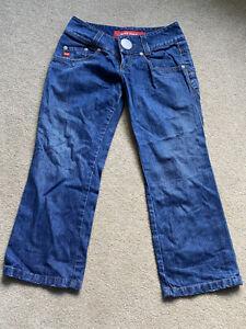 MISS SIXTY Dark blue low waist cropped jeans - Size 28 (10)