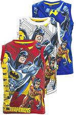 Kids Boys Vest T.Shirt Tank Disney BATMAN 3D Print Sleeveless Tops 3-4-5-6-8 YRS