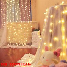 80 LED Curtain Fairy Lights Indoor/Outdoor Wedding Party Christmas Room Decor